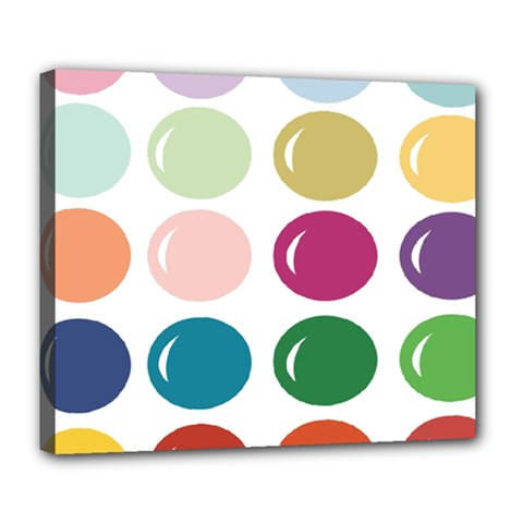 Brights Pastels Bubble Balloon Color Rainbow Deluxe Canvas 24  x 20