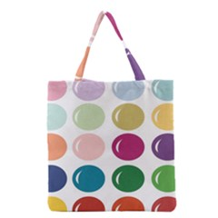 Brights Pastels Bubble Balloon Color Rainbow Grocery Tote Bag