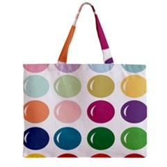 Brights Pastels Bubble Balloon Color Rainbow Zipper Mini Tote Bag