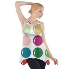 Brights Pastels Bubble Balloon Color Rainbow Side Drop Tank Tunic