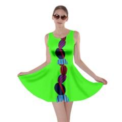 Egg Line Rainbow Green Skater Dress