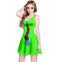Egg Line Rainbow Green Reversible Sleeveless Dress
