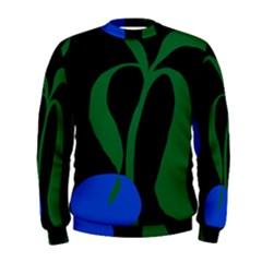 Flower Green Blue Polka Dots Men s Sweatshirt