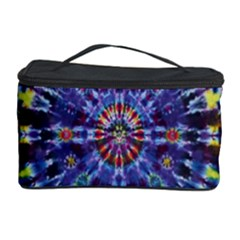 Circle Purple Green Tie Dye Kaleidoscope Opaque Color Cosmetic Storage Case