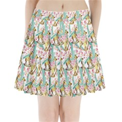 Wooden Gorse Illustrator Photoshop Watercolor Ink Gouache Color Pencil Pleated Mini Skirt