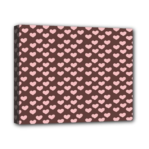 Chocolate Pink Hearts Gift Wrap Canvas 10  x 8