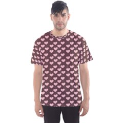 Chocolate Pink Hearts Gift Wrap Men s Sports Mesh Tee