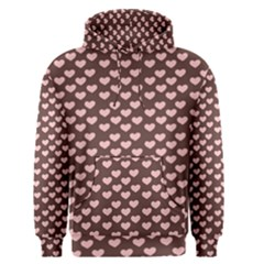 Chocolate Pink Hearts Gift Wrap Men s Pullover Hoodie