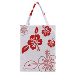 Hawaiian Flower Red Sunflower Classic Tote Bag