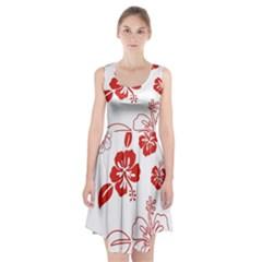 Hawaiian Flower Red Sunflower Racerback Midi Dress