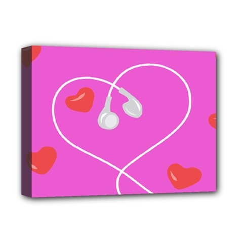 Heart Love Pink Red Deluxe Canvas 16  X 12