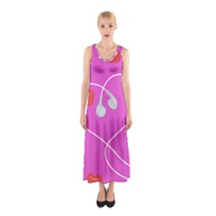 Heart Love Pink Red Sleeveless Maxi Dress