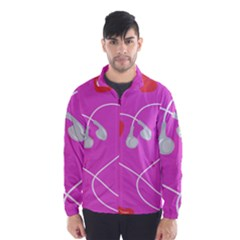 Heart Love Pink Red Wind Breaker (men)
