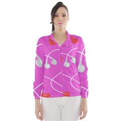 Heart Love Pink Red Wind Breaker (Women)