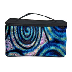 Green Blue Circle Tie Dye Kaleidoscope Opaque Color Cosmetic Storage Case