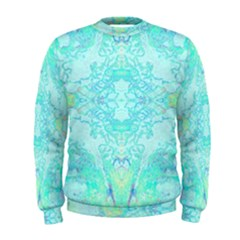Green Tie Dye Kaleidoscope Opaque Color Men s Sweatshirt