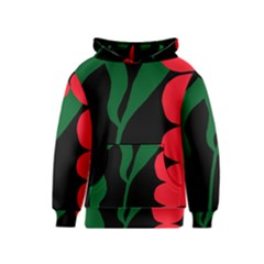 Illustrators Portraits Plants Green Red Polka Dots Kids  Pullover Hoodie