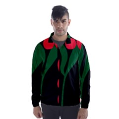 Illustrators Portraits Plants Green Red Polka Dots Wind Breaker (Men)