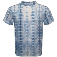 Indigo Grey Tie Dye Kaleidoscope Opaque Color Men s Cotton Tee