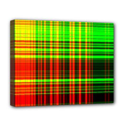 Line Light Neon Red Green Deluxe Canvas 20  x 16