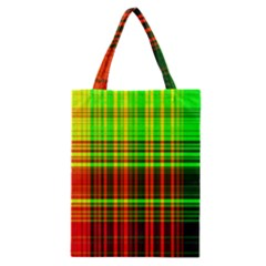 Line Light Neon Red Green Classic Tote Bag
