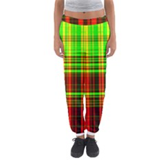 Line Light Neon Red Green Women s Jogger Sweatpants