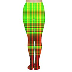 Line Light Neon Red Green Women s Tights