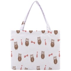 Insulated Owl Tie Bow Scattered Bird Mini Tote Bag