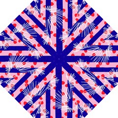 Line Vertical Polka Dots Circle Flower Blue Pink White Folding Umbrellas