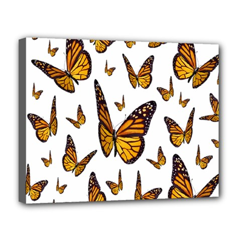 Butterfly Spoonflower Canvas 14  x 11