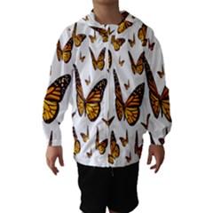 Butterfly Spoonflower Hooded Wind Breaker (Kids)