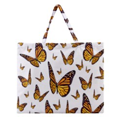 Butterfly Spoonflower Zipper Large Tote Bag