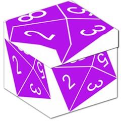 Number Purple Storage Stool 12