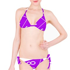 Number Purple Bikini Set