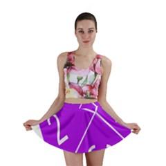Number Purple Mini Skirt