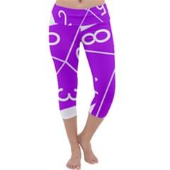 Number Purple Capri Yoga Leggings