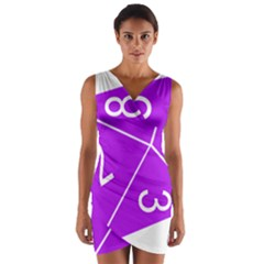 Number Purple Wrap Front Bodycon Dress