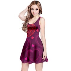 Love Heart Polka Dots Pink Reversible Sleeveless Dress
