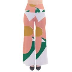 Peach Sunflower Flower Pink Green Pants
