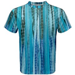 Line Tie Dye Green Kaleidoscope Opaque Color Men s Cotton Tee
