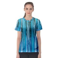 Line Tie Dye Green Kaleidoscope Opaque Color Women s Sport Mesh Tee