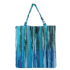 Line Tie Dye Green Kaleidoscope Opaque Color Grocery Tote Bag