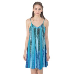 Line Tie Dye Green Kaleidoscope Opaque Color Camis Nightgown