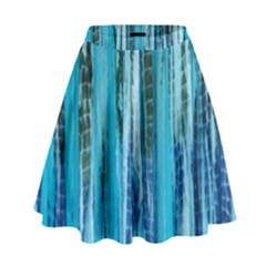 Line Tie Dye Green Kaleidoscope Opaque Color High Waist Skirt