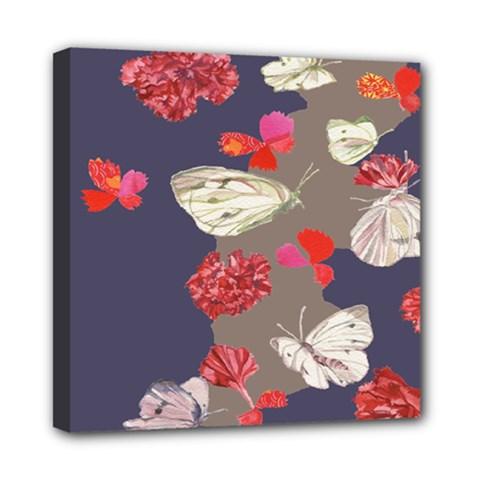 Original Butterfly Carnation Mini Canvas 8  X 8