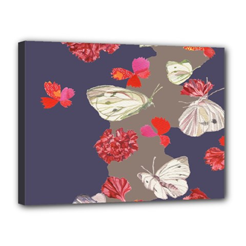Original Butterfly Carnation Canvas 16  x 12