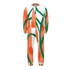 Portraits Plants Carrot Polka Dots Orange Green OnePiece Jumpsuit (Kids)