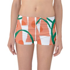 Portraits Plants Carrot Polka Dots Orange Green Boyleg Bikini Bottoms