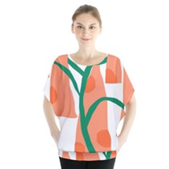 Portraits Plants Carrot Polka Dots Orange Green Blouse