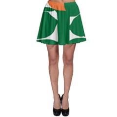 Portraits Plants Sunflower Green Orange Flower Skater Skirt